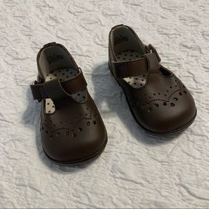 Angel • brown leather t-strap Mary Janes Sz 1